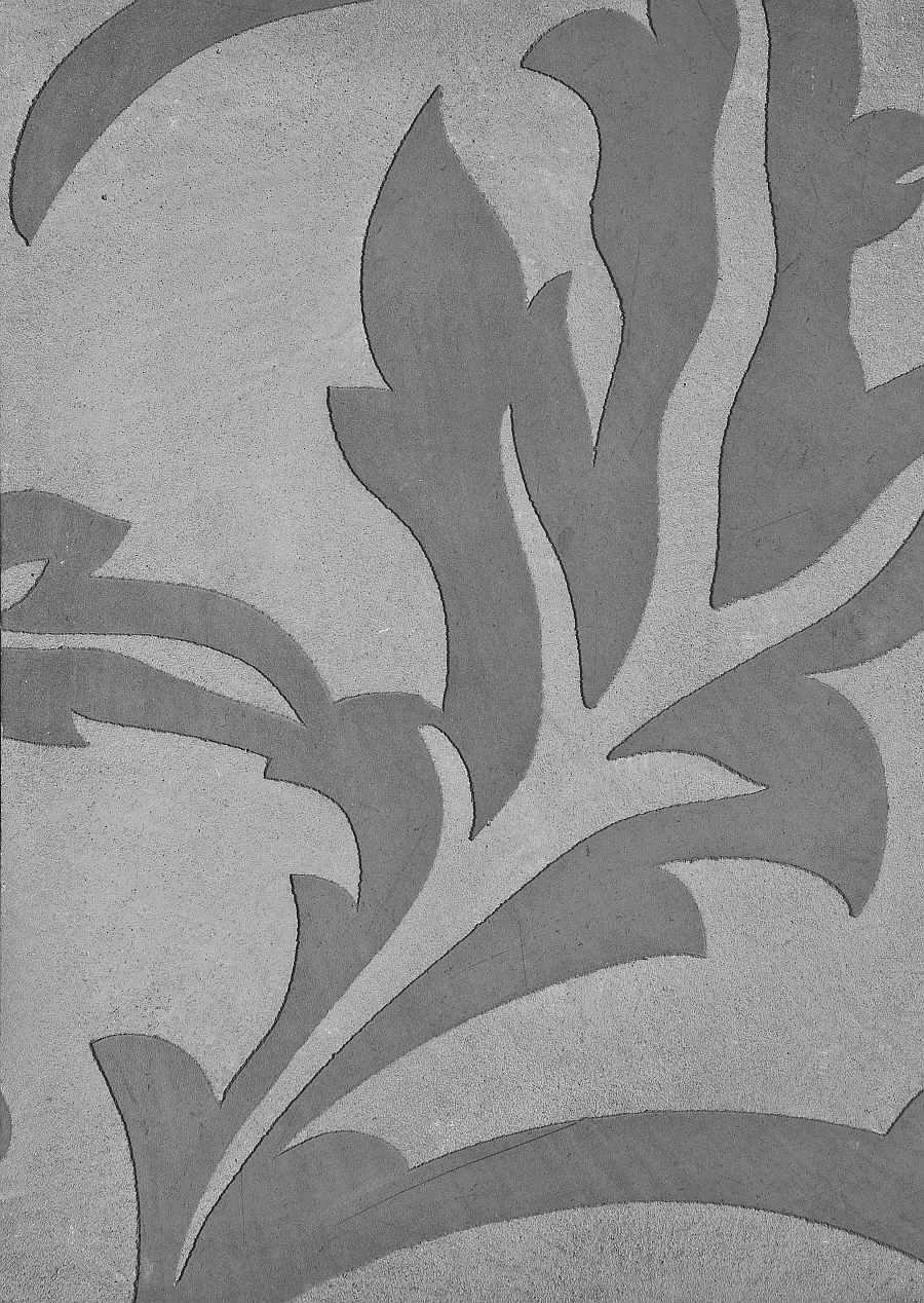Betonoptik mit integriertem Barock-Muster