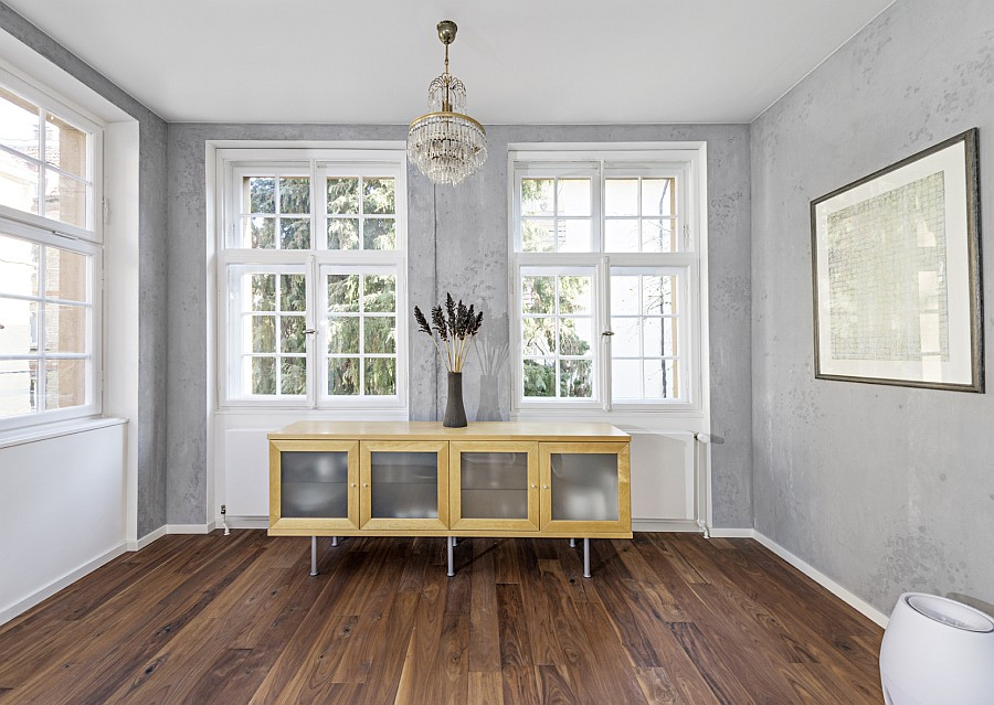 Sichtbetonoberflächen im Wohnzimmer